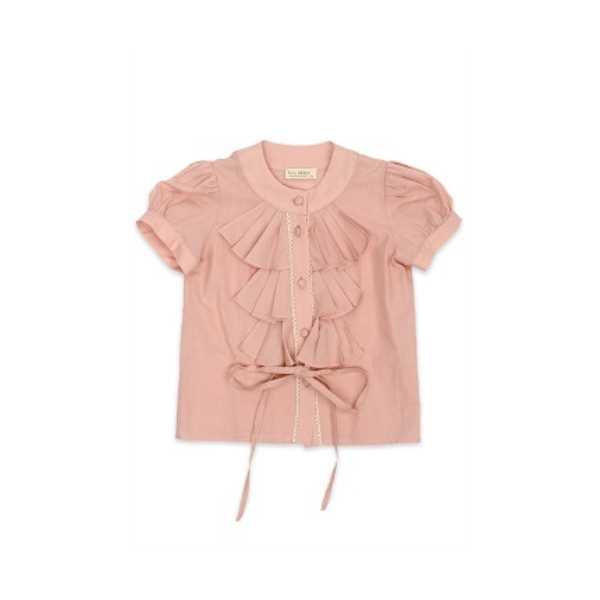Tülü Akkoç Fırfırlı, Bağcıklı Gömlek