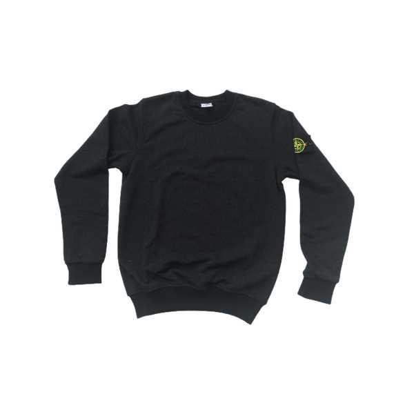 Erkek Uzun Kollu İki İplik Sıfır Yaka Bilekleri Lastikli Antrasit Sweatshirt ESY-STN