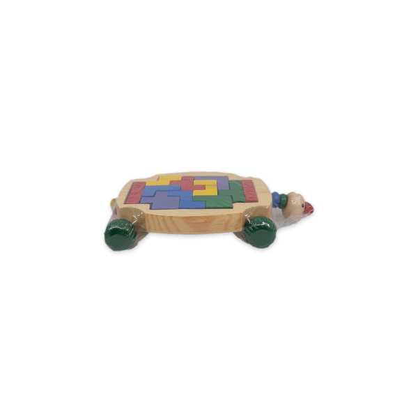 Montessori Eğitici Oyuncak: Ahşap Araba Kaplumbağa Tetris