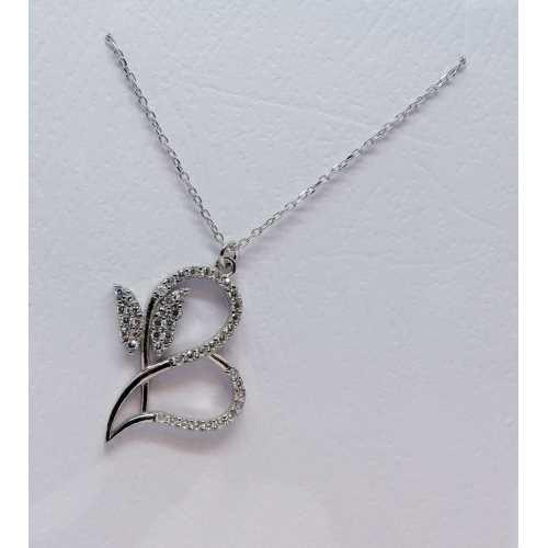 Kelebekli kalpli özel 925 ayar gümüş kolye