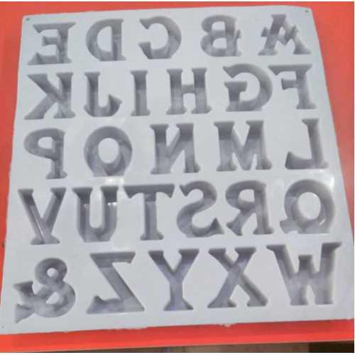 5.5 cm slikon harf kalıbı