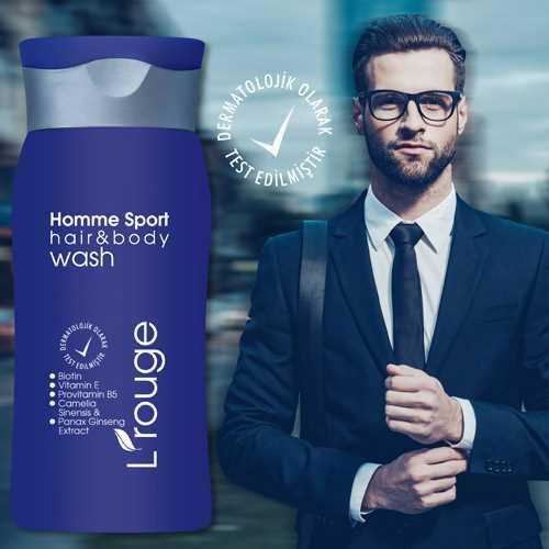l'rouge Homme Sport Hair&Body Wash duş jeli 200 ml