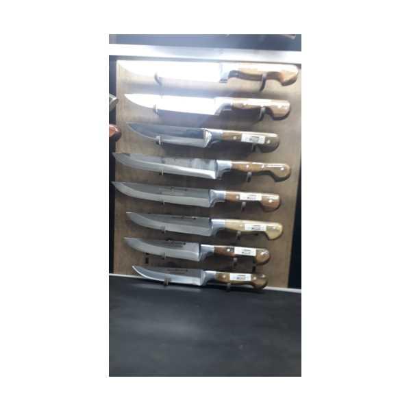 Sebze VE kasap  Bıçağımız Ceviz Saplı  El Yapımı Dövme Çelik Alüminyum Bilezikli sebzealü 8 adet