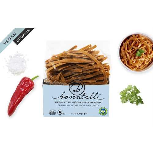 Bonatelli Organik Vegan Tam Buğday Çubuk Makarna 400gr