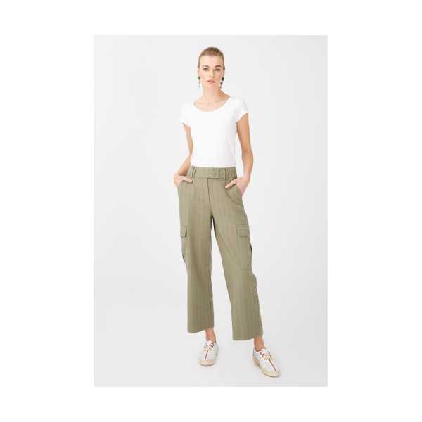Class Giyim Ekol Yan Cepli Bol Paça Pantolon