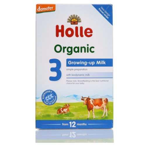 HOLLE ORGANİK DEVAM İNEK SÜTÜ  3 NUMARA ( BÜYÜME SÜTÜ)  600 grm ( 12-36 AY )-Doğal sağlık ürünleri
