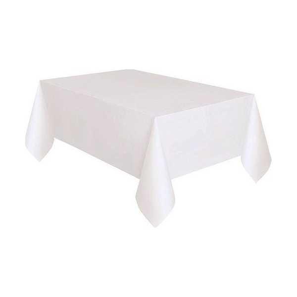 Plastik Masa Örtüsü Beyaz Renk 137x270 cm