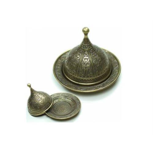 Osmanlı Motifli Lokumluk Büyük - Sarı