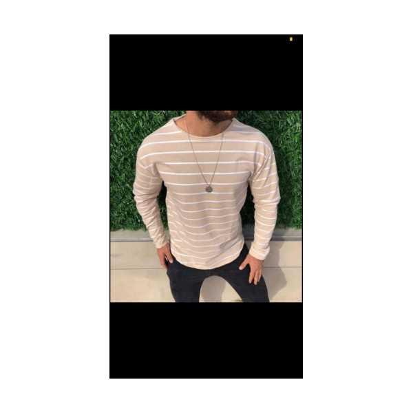 Siyah Çizgili Oversize Sweatshirt
