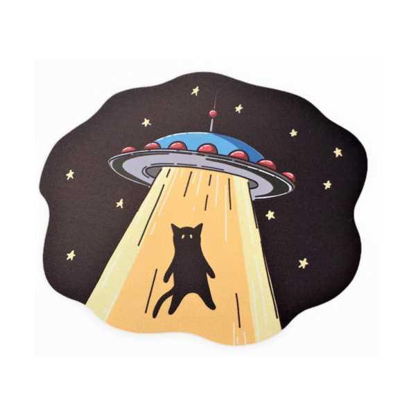 WoodyPack Eve Dönüş / Kedili Şekilli Kesim Ahşap Bardak Altlığı