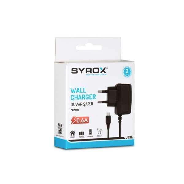 Syrox J03k 0.6A Micro Girişli Şarj Cihazı