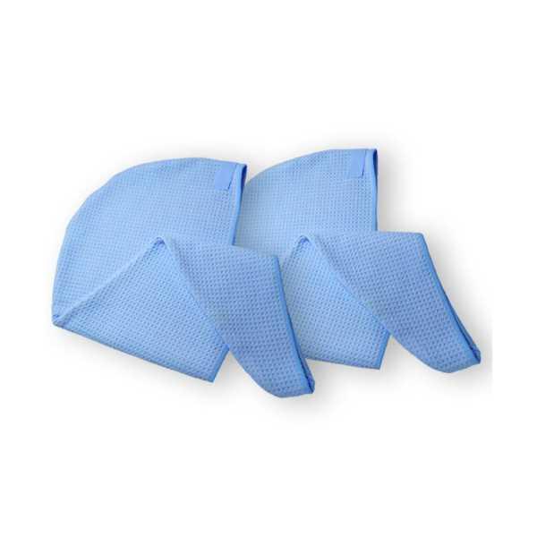 SİLVA Mikrofiber Saç Bonesi ikili Mavi