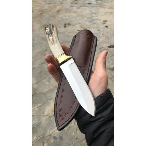 Geyik Boynuzu Doğa Kamp Ve Avcı Bıçağı