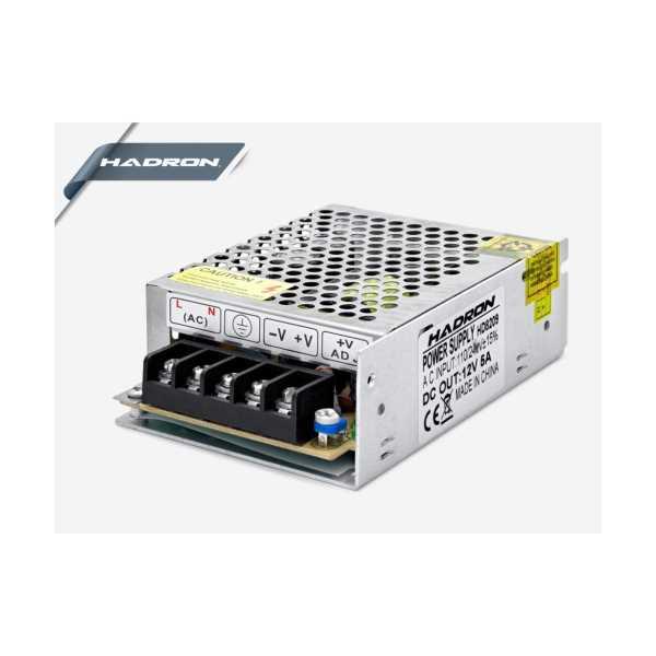 HADRON HD8209/120 METAL ADAPTÖR 12V 5A 11.1*7.8*3.6CM SMALL