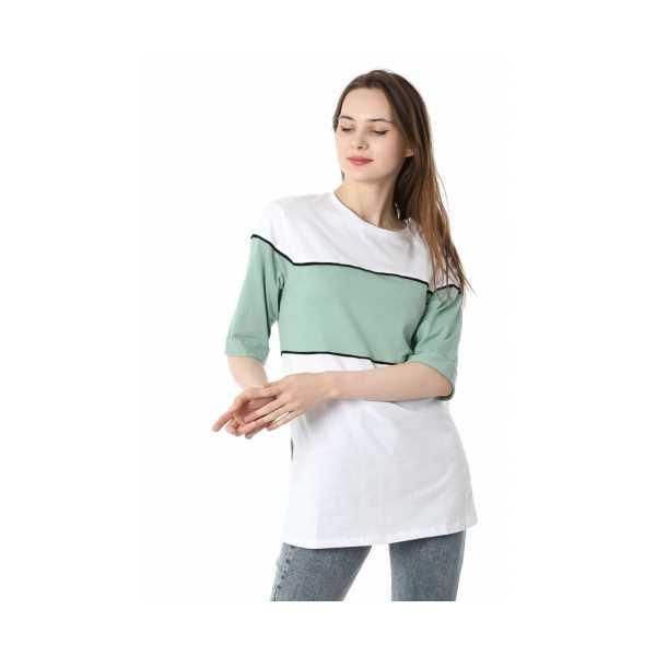 Iki Renkli Salaş T-shirt - Mint