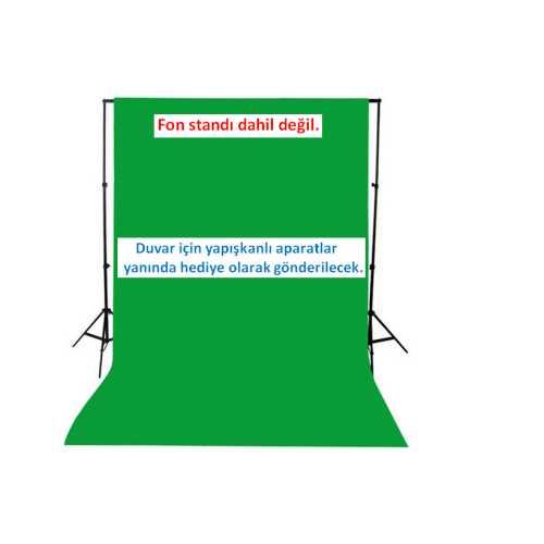 CHROMAKEY- GREEN SCREEN GREENBOX YEŞİL FON PERDE(1.5 X 3 M)