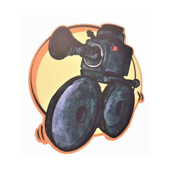 WoodyPack Turuncu Yayındayız Şekilli Kesim Ahşap Bardak Altlığı
