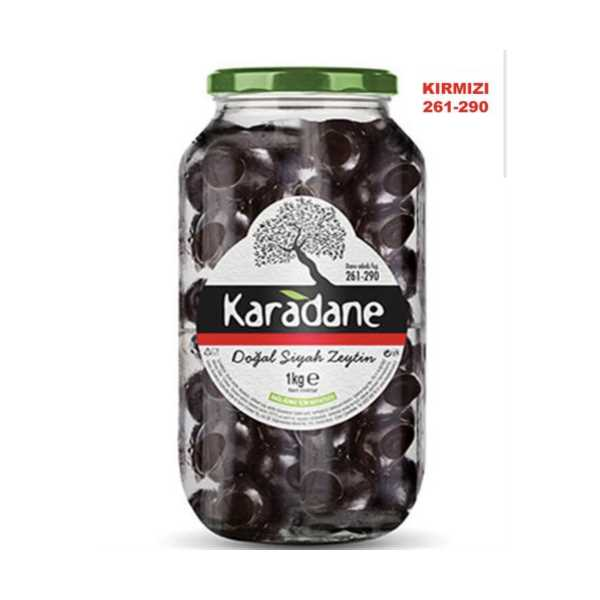 Karadane Siyah Zeytin 261-290 Kalibre KIRMIZI-1kg