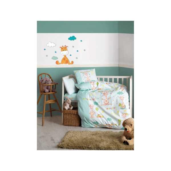 Cottonbox Zürafa Yeşil Bebek Nevresim Takımı