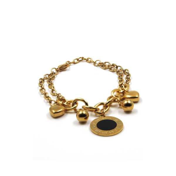 Roman Numeral Gold Altın Kaplama Bileklik