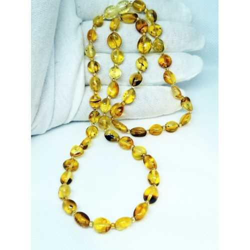 Kehribar Kolyesi Damlaa Kehribar Natural Amber Şifalı taş