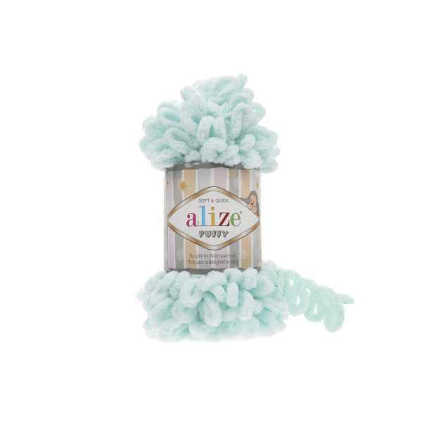 Alize Puffy El Örgü İpi No: 15 Renk: Su Yeşili (5'li paket)