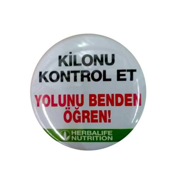 KİLONU KONTROL ET,YOLUNU BENDEN ÖĞREN-ROZETİ 10'LU SET