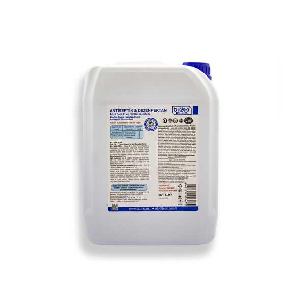 Bioxi® Alkol Bazlı El ve Cilt Antiseptik Dezenfektan 5 LT.