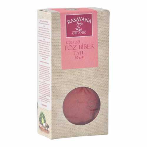 Rasayana Organik Kırmızı Toz Biber (TATLI) 50 Gr.