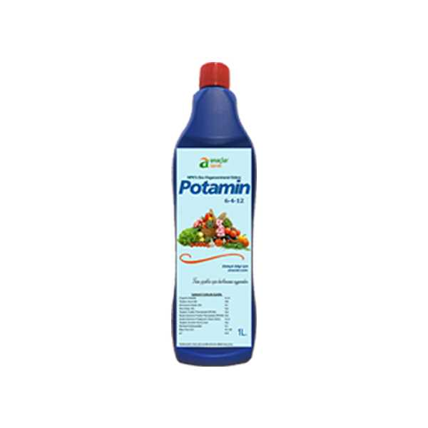 Potamin 1 Litrelik Npk'lı (%6 Azotlu - %4 Fosforlu - %12 Potasyumlu) Sıvı Organomineral Gübre