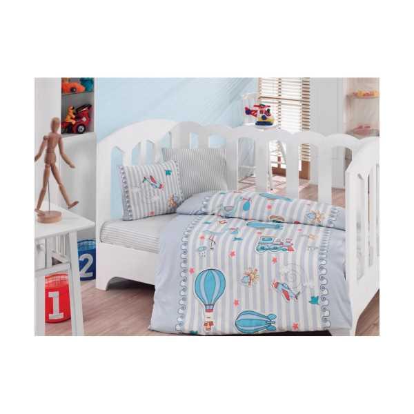 Cottonbox Gezgin Mavi Bebek Nevresim Takımı
