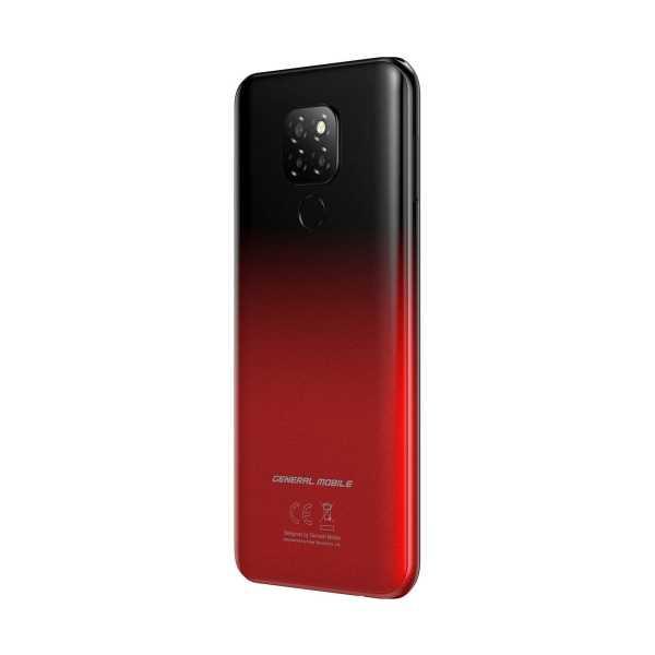 GENERAL MOBİLE GM20  64GB GECE KIRMIZISI MİDNİGHT RED (GENERAL MOBİLE TÜRKİYE GARANTİLİ)