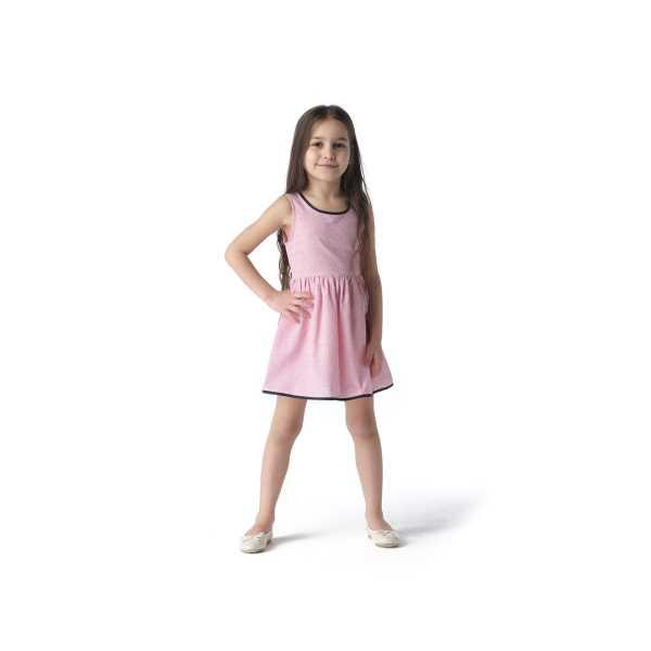 Tülü Akkoç Kırmızı Çizgili Biyeli Yazlık Elbise TAK21E105B