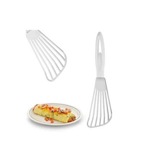 Omlet Krep Spatulası Balerin Saplı Metal Krep Omlet Çevirici