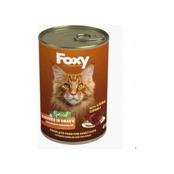 FOXY Kedi Maması 415 Gr (CİĞERLİ)