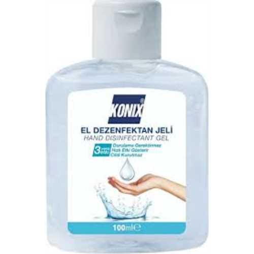 Konix Antibakteriyel Jel El Dezenfektanı 100 ml ( 30 li koli)