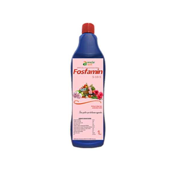 Fosfamin 1 Litrelik Npk'lı (%5 Azotlu - %10 Fosforlu - %5 Potasyumlu) Sıvı Organomineral Gübre