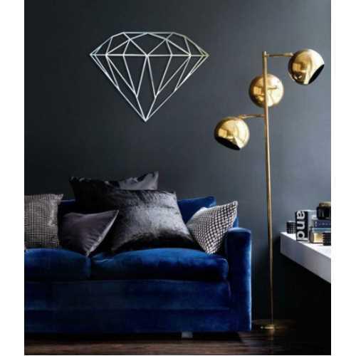 Diamond (Siyah) - Duvar Aksesuar