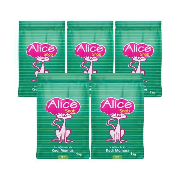 Alice Snob Kedi Maması 5x1 Kg