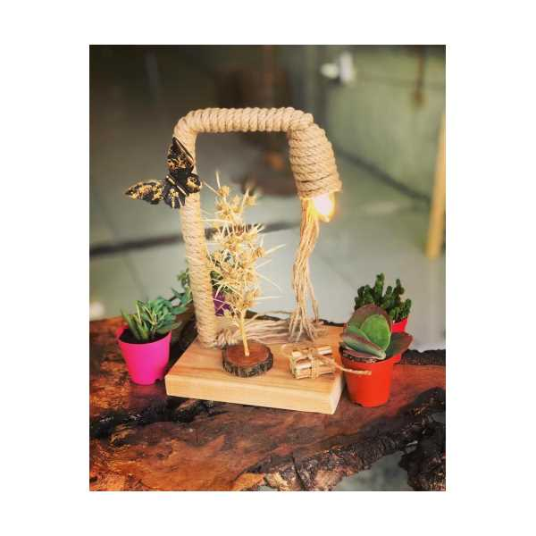 El yapımı dekoratif abajur