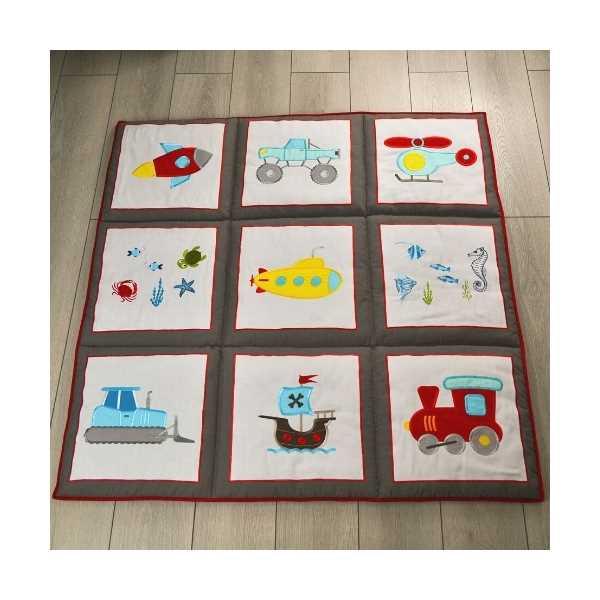 HS Home Baby Özel Tasarım El Yapımı Oyun Matı / Halısı 120x120 cm