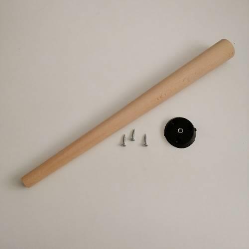 DekoZEM Ahşap Masa & Sehpa Ayağı (1 Adet) 45 cm DKZM-572-AMSYG