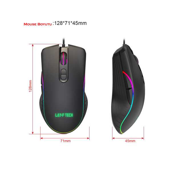 Laytech SC103-A867 Pro Gaming Mouse,6400 DPI,7 Düğmeli Oyuncu Mouse opt Satıcının Açıklaması
