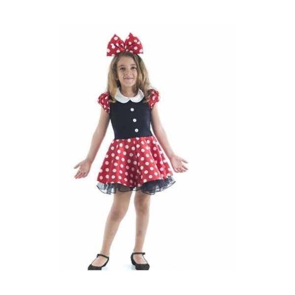 Tülü Akkoç Yakalı Minnie Mouse Kostümü