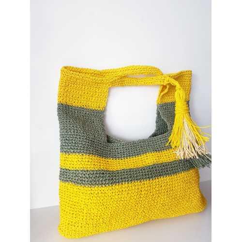 Yeşil ve Sarı Büyük Çanta
