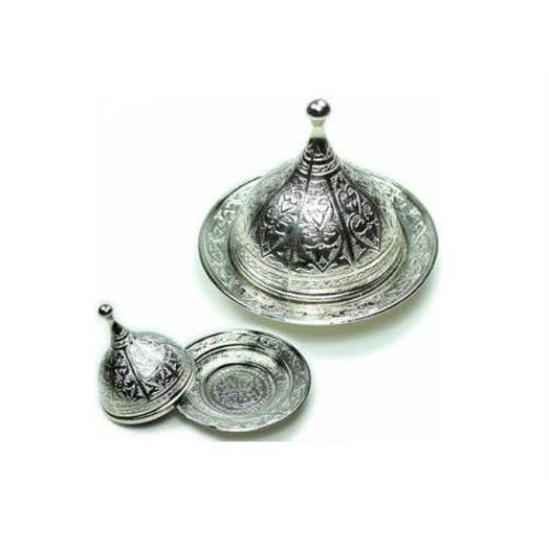 Osmanlı Motifli Lokumluk Büyük - Gümüş