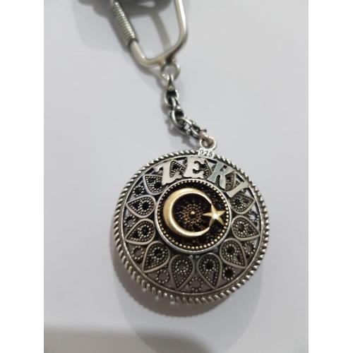 kişiye özel isimli Gümüş Anahtarlık midyatziv