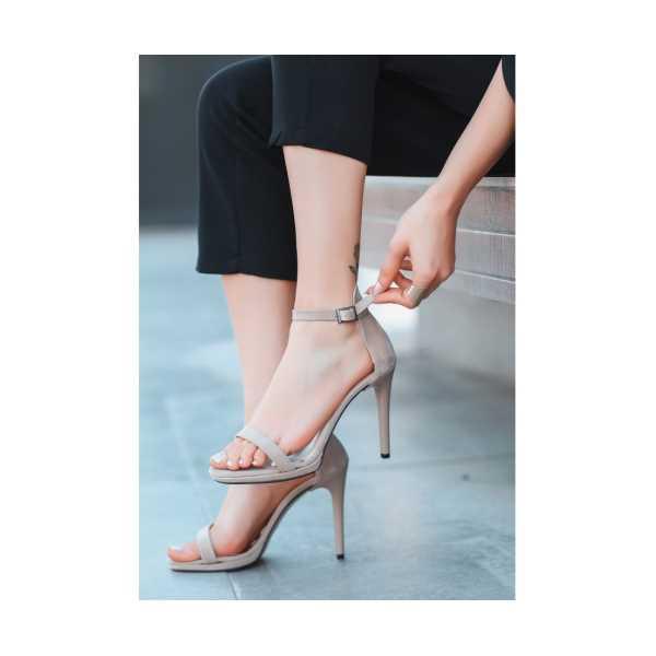Serel Vizon Süet Topuklu Ayakkabı