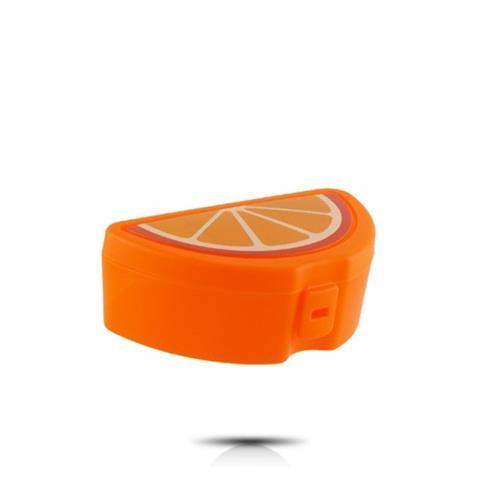 Portakal Model Lunch Box Saklama Kabı - Çatal Kaşık Hediyeli