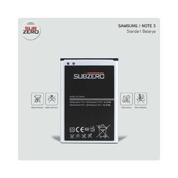 Note 3 Samsung Güçlendirilmiş Batarya SubZero